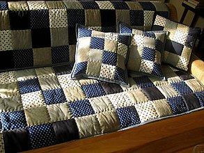 Úžitkový textil - šedo-modrá krása - 7910649_
