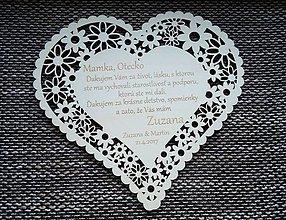 Darčeky pre svadobčanov - Poďakovanie rodičom 2 - 7910002_