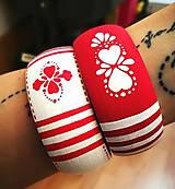 Sady šperkov - Set náušnice + náramok - Red Folk - 7909502_