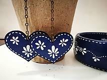 Sady šperkov - Set náušnice + náramok - Blue Folk - 7909526_