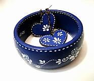 Sady šperkov - Set náušnice + náramok - Blue Folk - 7909528_