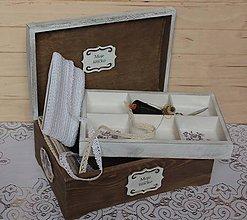 Krabičky - krásna veľká masívna krabica na šitíčko - 7909545_