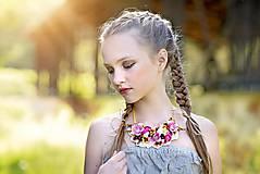 Náhrdelníky - Jarný náhrdelník