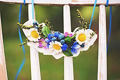 Náhrdelníky - Jarný kvetinový náhrdelník