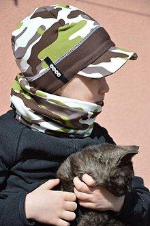 Detské čiapky - šiltovka s menom military - 7912907_