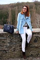 Kabáty - Svetlo modrý trenčkot - 7912098_