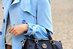 Kabáty - Svetlo modrý trenčkot - 7912104_