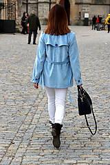 Kabáty - Svetlo modrý trenčkot - 7912106_