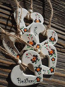 Dekorácie - srdiečka s ornamentom III. - 7911333_