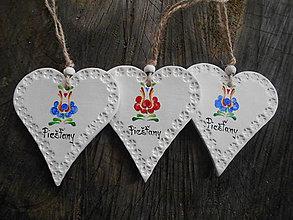 Dekorácie - veľké srdiečko s ornamentom - 7911681_