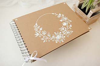 Papiernictvo - Kniha hostí kvetinový folk - 7910508_