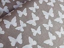 Textil - látka latté motýle - 7908957_
