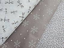 Textil - látka latté motýle - 7908961_