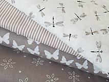 Textil - látka latté motýle - 7908963_