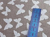 Textil - látka latté motýle - 7908968_