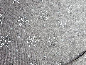 Textil - látka latté kvetinky - 7908990_