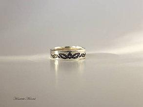Prstene - obrúčka s folklórnym ornamentom - Goralský motív - 7909652_
