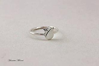 Prstene - Strieborný prsteň - folk tulipán - 7909781_