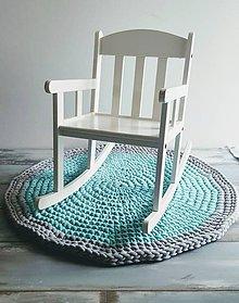 Úžitkový textil - Háčkovaný okrúhly koberec - 7913869_