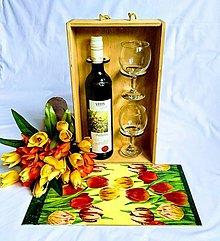 """Krabičky - Box na víno  """"Tulipány"""" - 7914809_"""