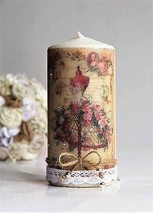 Svietidlá a sviečky - Dekoračná sviečka - 7915292_