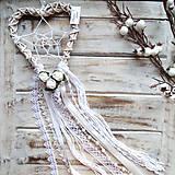 Dekorácie - Lapač snov Heart Dream- zľava z 16,90€ - 7915275_