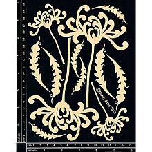 Papier - Dusty Attic - Spider chrysanthemum - Chryzantéma (lepenkový výrez) - 7915126_
