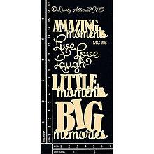 Papier - Dusty Attic - Mini Captions 6 - Mini nadpisy 6 (výrezy z lepenky) - 7915145_