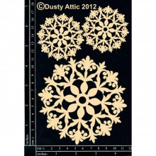 Polotovary - Dusty Attic - Doily - Čipky 5 (lepenkové výrezy) - 7915146_