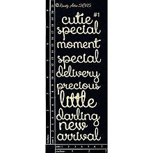 Papier - Dusty Attic - Baby Word set 1 - Set slov pre bábätko (lepenkové nápisy na scrapbooking) - 7915518_