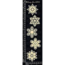 Papier - Dusty Attic - Snowflakes 2 - Vločky (výrezy z lepenky) - 7915562_