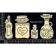 Papier - Dusty Attic - Love Potions - Nápoje lásky (výrezy z lepenky - fľaštičky) - 7915610_