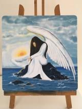 Obrazy - Modrý anjel - 7915522_