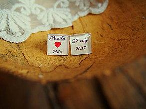 Šperky - Manžetové gombíčky pre ženícha - 7914017_