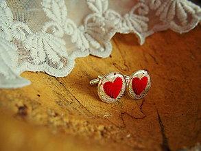 Šperky - Manžetky so srdiečkami - 7914056_