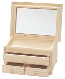 Polotovary - Komodka s 3 šuflíkmi a zrkadlom, ihneď - 7915096_