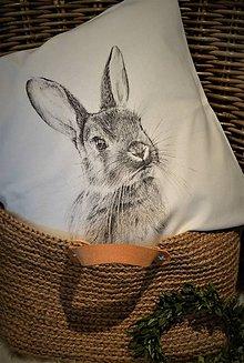 Úžitkový textil - Zajko na vankúši - 7914617_