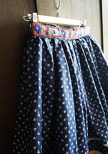 Sukne - Modrotlačová suknica - 7917585_
