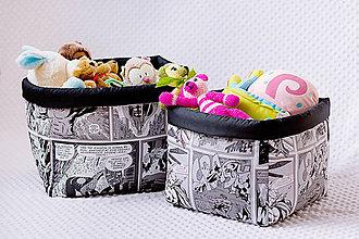 Detské doplnky - Set boxov na hračky - veľký výber vzorov - 7919259_