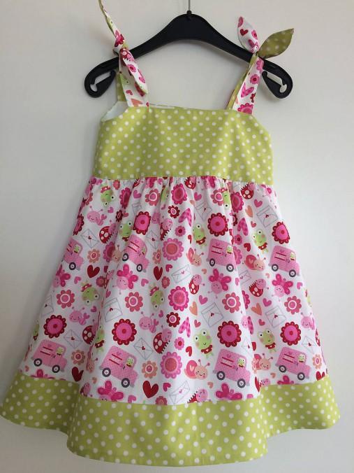 c4db1485982a Letné šaty so žabkami V 98 104   dievcatkovo - SAShE.sk - Handmade ...
