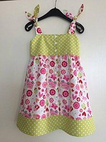 Detské oblečenie - Letné šaty so žabkami V 98/104 - 7919154_