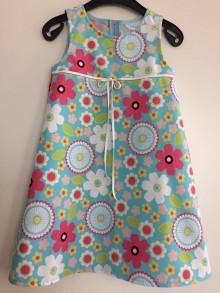 Detské oblečenie - Šaty kvietkované V - 104 - 7919485_