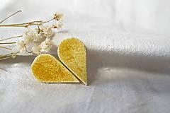 Náušnice - žltá kvapka - 7918596_