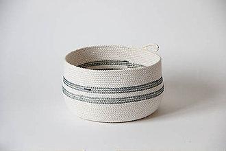 Košíky - Košík bíločerný - 7917988_