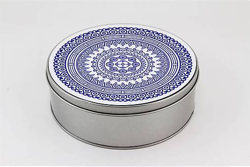 Plechová krabička okrúhla ornament 33