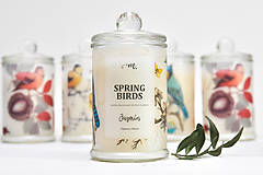 - Spring Birds - Jazmín / Sójová sviečka - 7919947_
