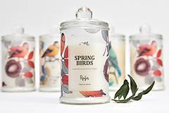 - Spring Birds - Ruža / Sójová sviečka - 7920178_