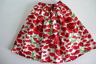 Detské oblečenie - dievčenská sukňa - divé maky - 7917896_