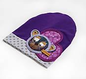 Detské čiapky - Prechodná čiapka s mackom - 7919644_