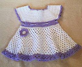 Detské oblečenie - Háčkované šaty - 7918644_